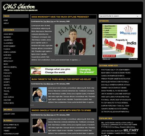 CMS Electron WordPress Theme