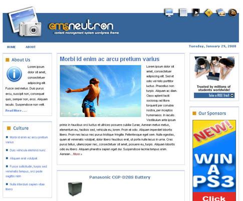 CMS Neutron WordPress Theme