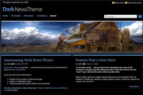 Premium Dark News WordPress Theme