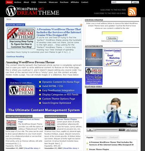 WordPress Dream Theme