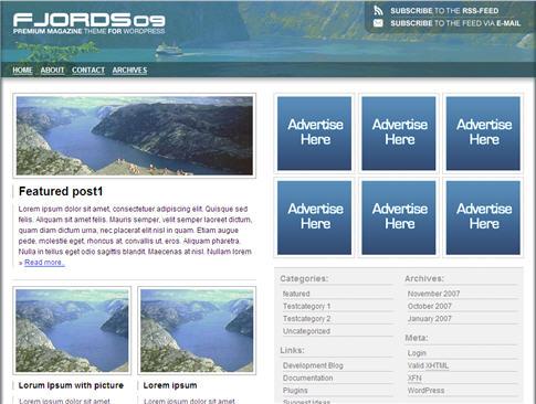 Fjords09 Magazine WordPress Theme