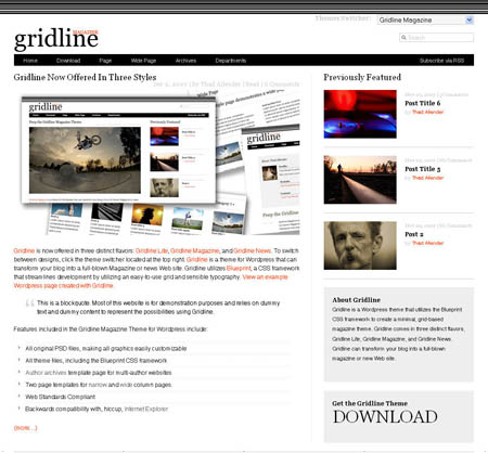 Gridline Magazine WordPress Theme