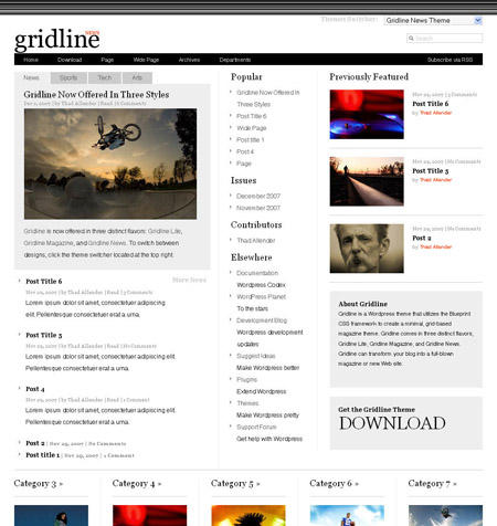 Gridline News Premium WordPress Theme