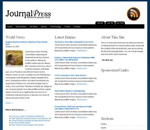 JournalPress WordPress Theme