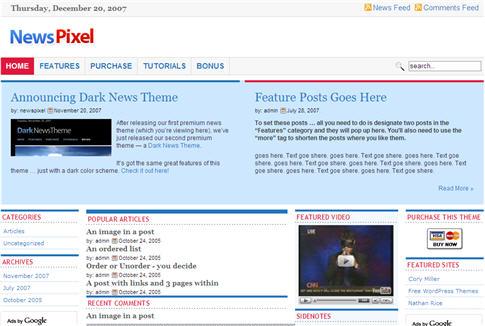 NewsPixel WordPress Theme