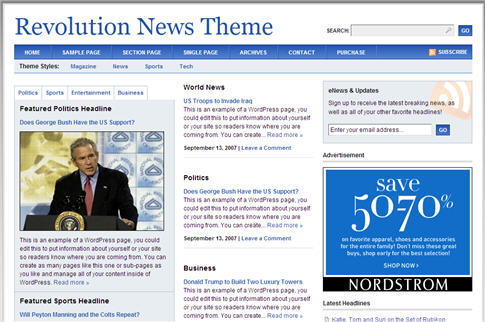 Revolution News WordPress Theme