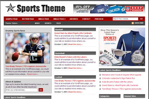 Revolution Sports WordPress Theme