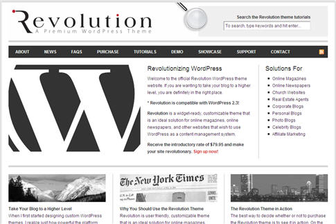 Revolution WordPress Theme