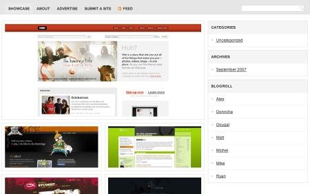 Showcase: WordPress CSS Gallery Theme