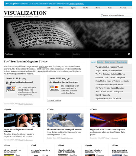 """Visualization"" WordPress Theme"