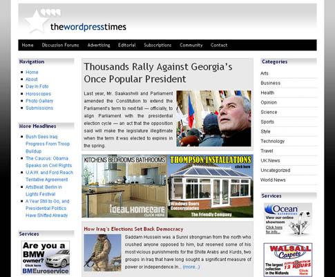 """""""WordPress Times"""" Theme"""