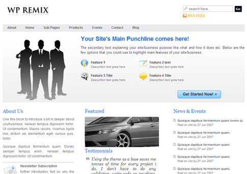 Win the WP Remix WordPress Theme