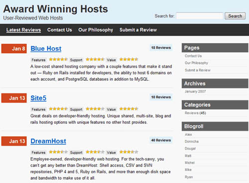 WP Review Site Plugin and Theme