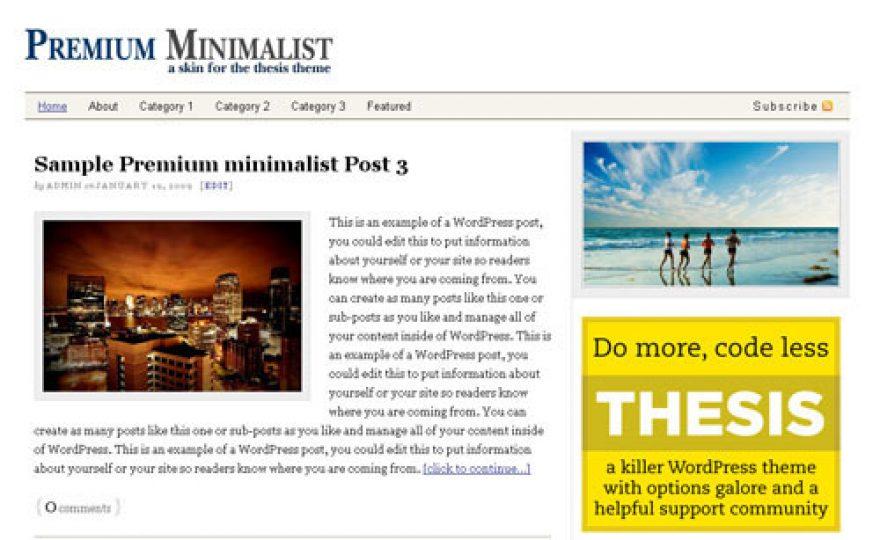 Free Premium Minimalist WordPress Theme
