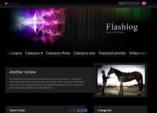 Flashlog WordPress Theme