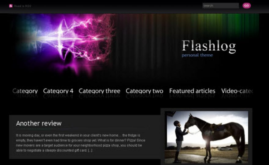 Flashlog WordPress Theme