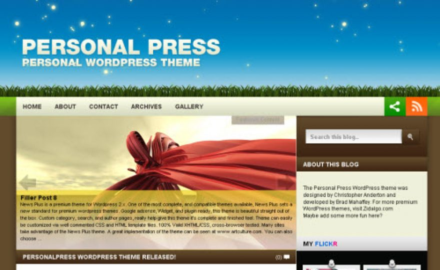 PersonalPress WordPress Theme