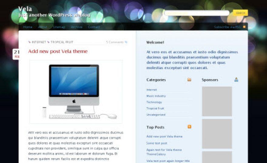 Vela WordPress Theme