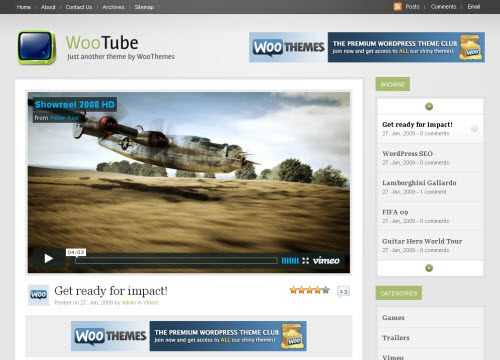 WooTube Theme with New Homepage