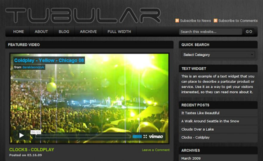 Tubular WordPress Theme