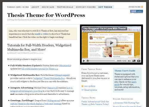 theme and thesis of Theme thesis 272 likes teaching you how to customize wordpress and the thesis theme.
