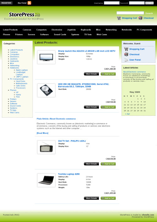 store press wordpress theme
