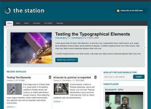 The Station Version 1.1 WordPress Theme