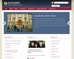 academy wordpress theme
