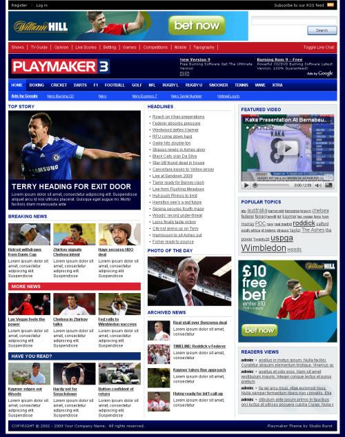 Playmaker 3 Premium WordPress Theme StyleWP