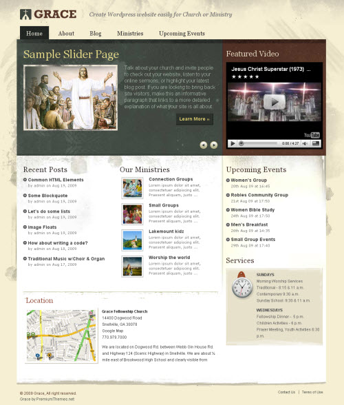 Grace Church Premium WordPress Theme