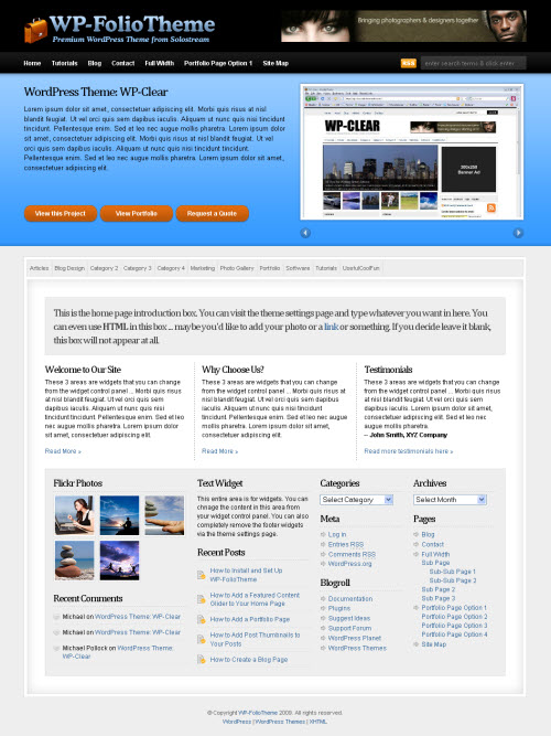 WP-Folio: Portfolio Premium WordPress Theme