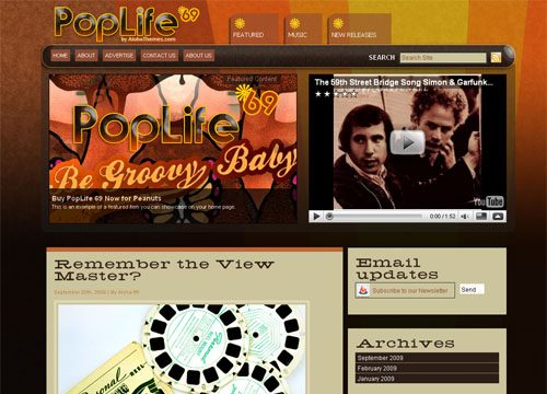PopLife69 Premium WordPress Theme