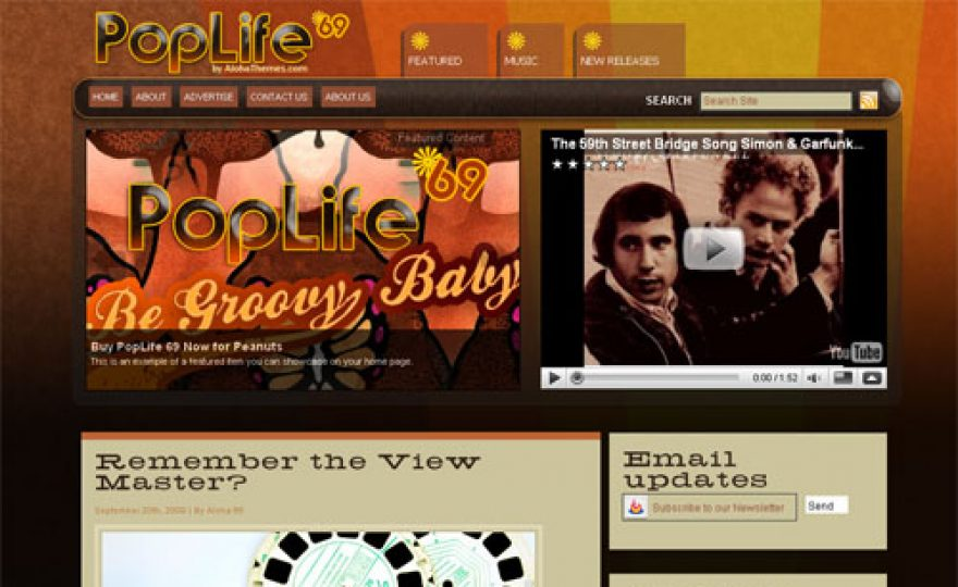 PopLife69 Premium WordPress Theme