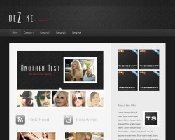 DeZine Blog Magazine WordPress Theme