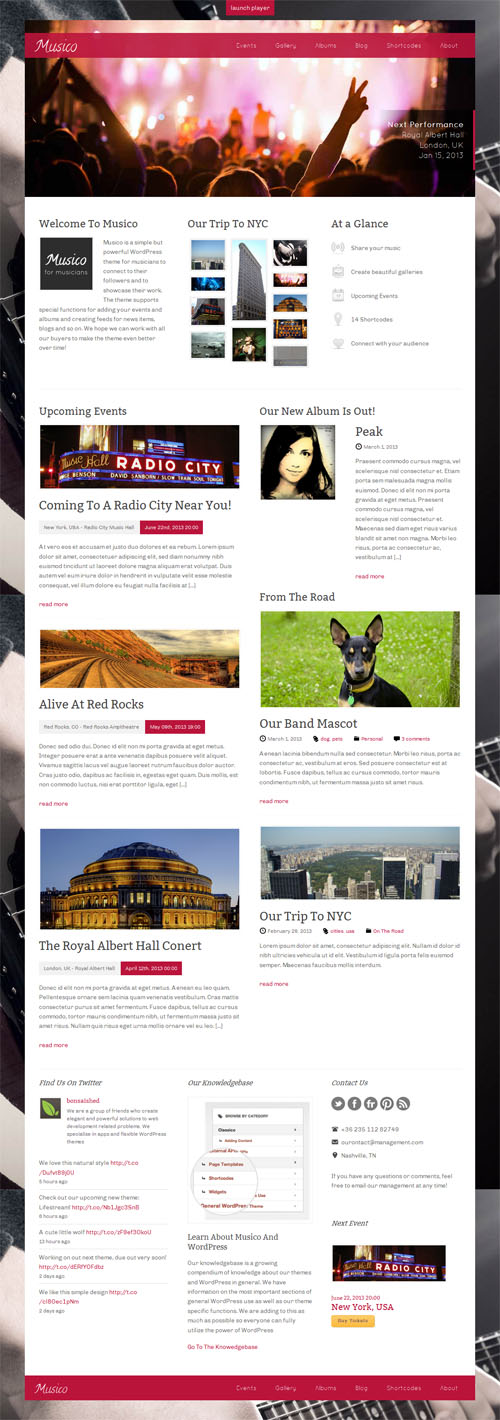 Musico WordPress Theme