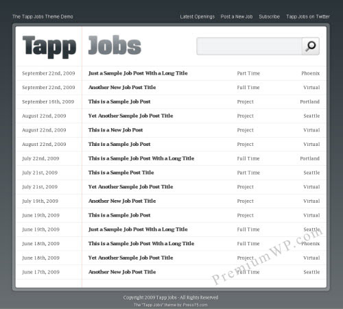 Tapp Jobs - Job Board WordPress Theme