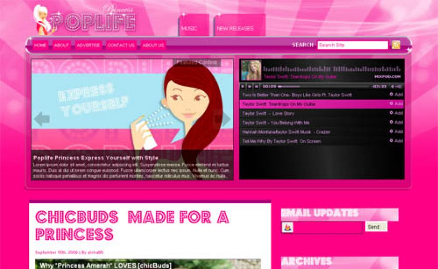 PopLife Princess Premium WordPress Theme