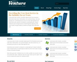 Venture Business CMS WordPress Theme