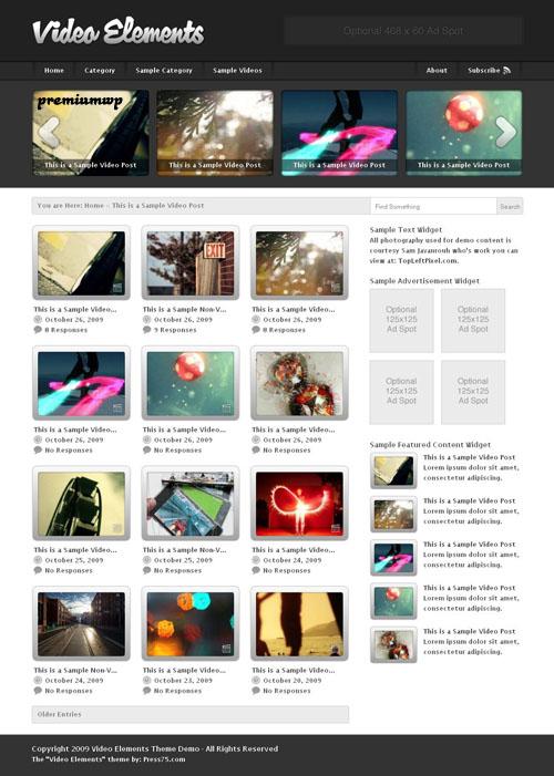 Video Elements 2.0 Premium WordPress Theme
