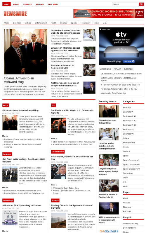 Newswire Premium WordPress Theme