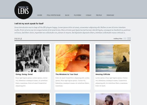 Through The Lens Premium WordPress Theme