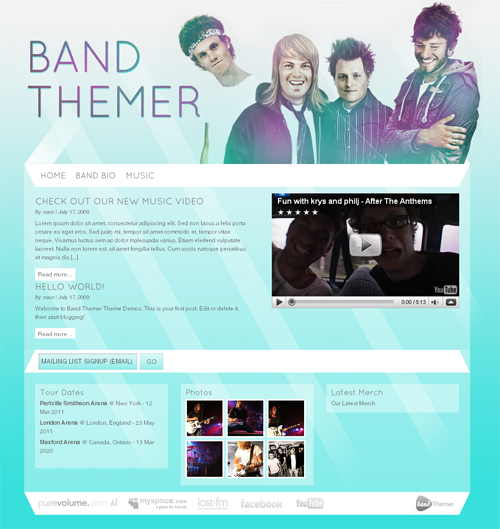 Neon-wordpress-theme