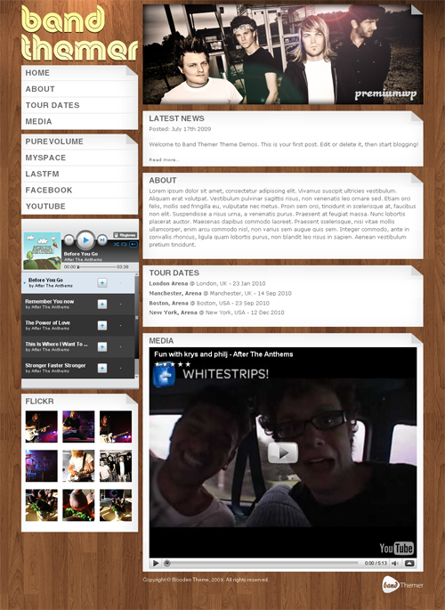 Wooden-wordpress-theme