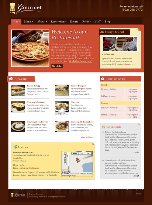 gourmet wordpress theme