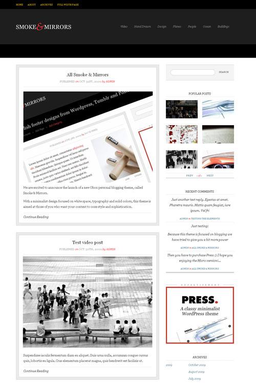 Smoke & Mirrors Premium WordPress Theme