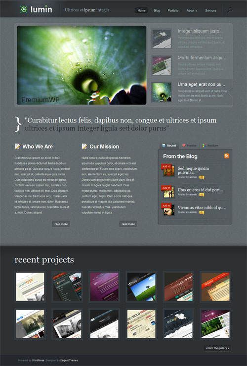 lumin wordpress theme