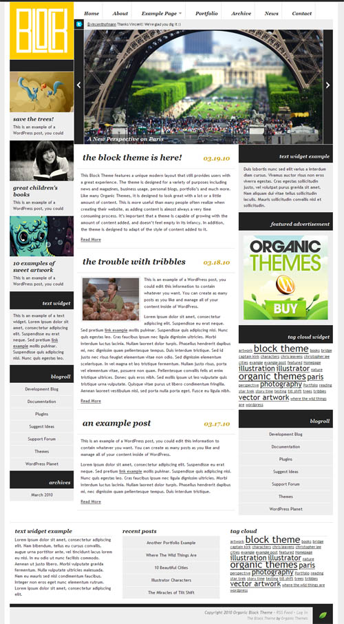Organic Block WordPress Theme