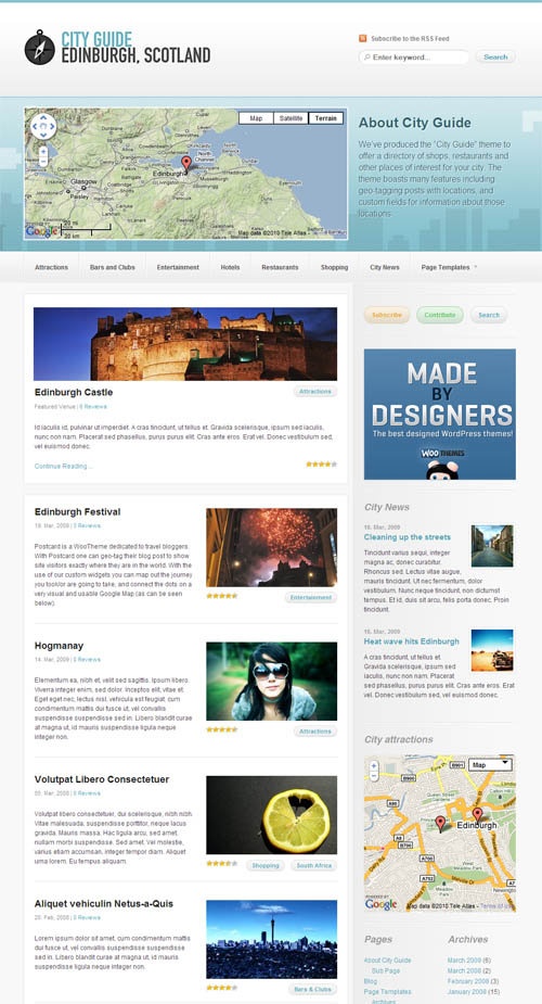 City Guide WordPress Theme [2019] | Responsive City ...