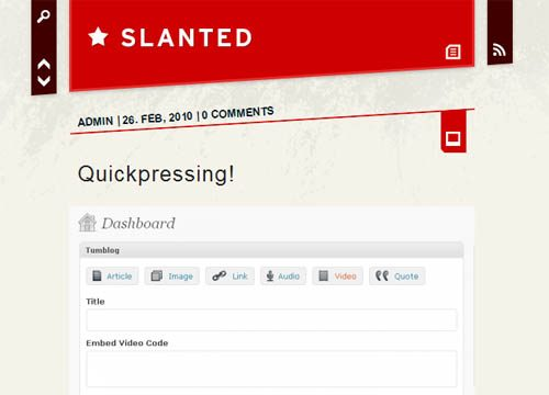 Slanted Microblog WordPress Theme