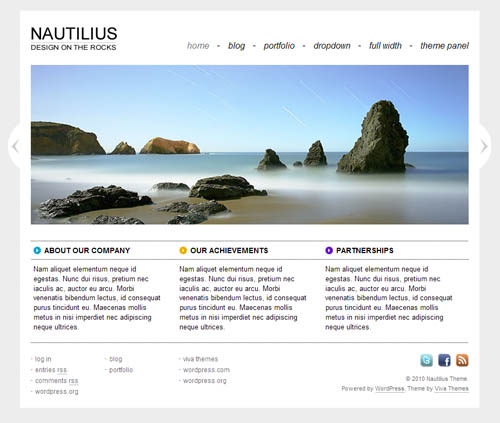 Nautilius WordPress Theme